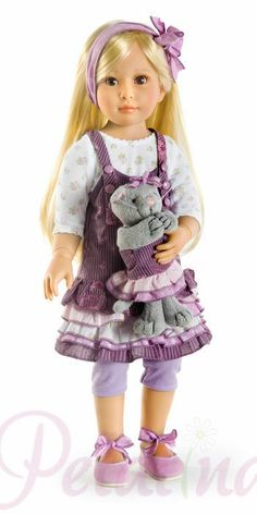 "Kidz 'n' Cats Grace Jointed Vinyl Playdoll  Brand 	Kidz 'n' Cats  Suitable for age	6 years+  Eyes	Brown  Size	46cm/18""  See description below  £104.99"