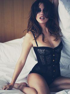 Agent Provocateur - 'Mercy' Corset -- Model: Blanca Suárez -- Photographer: Simon Emmet for GQ Magazine