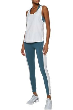 Shop on-sale Layered ribbed jersey tank and stretch sports bra. Browse other discount designer Tops & more luxury fashion pieces at THE OUTNET Leggings Sale, Jacket Dress, Latest Trends, Fitness Models, Active Wear, Luxury Fashion, Bra, Clothes, September