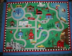 Wanta make something like this for laz without the sewn on cars so that he can play toy cars on him blanket.