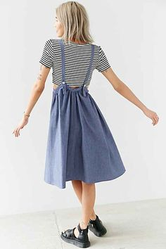 Trendy Sewing Skirts For Teens Do It Yourself Urban Dresses, Urban Outfits, Apron Dress, Dress Skirt, Pretty Outfits, Cute Outfits, Look Fashion, Fashion Outfits, Jumper Dress