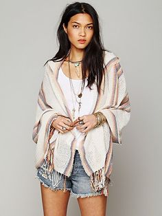 Free People Hooded Poncho ......... found a Forever 21 knock off .... LOVE IT