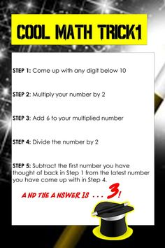 Cool Math Trick for Kids! The Answer will always be 3!
