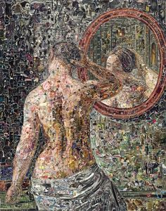 Vik Muniz | Pictures of Magazine 2: Female Model Standing Before a Mirror, after C.W. Eckersberg (2012) | Available for Sale | Artsy