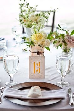 Ideas for Table Names and Numbers , Wedding Reception Photos by The French Bouquet
