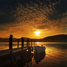 Evening on the lake by adrians_art, via Flickr