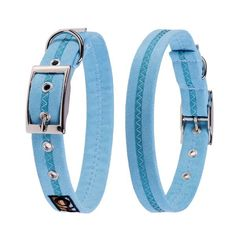 ocean breeze soft suedette dog collars