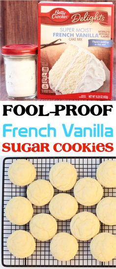 Ingredients) - Never Ending Journeys - Mary Currier - Soft Vanilla Sugar Cookies Recipe! Ingredients) - Never Ending Journeys French Vanilla Cake Mix Recipes! This crazy easy dessert will fast become a new favorite! Cake Mix Desserts, Cake Mix Cookie Recipes, Cake Mix Cookies, Cookie Desserts, Cookies Et Biscuits, Cake Recipes, Brownie Cookies, Cupcakes, East Dessert Recipes