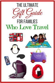 The Ultimate Gift Guide for Families Who Love Travel! Find the best gifts these holidays for the travellers in your life. This post contains my top suggestions for family gifts as well as gifts for moms, dads, kids 5+ and tiny tots.