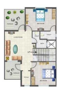 Awesome Duplex Floor Plans | Indian Duplex House Design | Duplex House Map