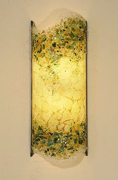 fused glass lighting designed by M Matchael of Crystal Glass Studio
