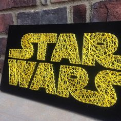 Star Wars Inspired String Art Board wooden sign home and living decor wood wall hanging Boys room Gift Giving May the Force home decorations from my Etsy shop https://www.etsy.com/listing/457067096/star-wars-inspired-string-art-board