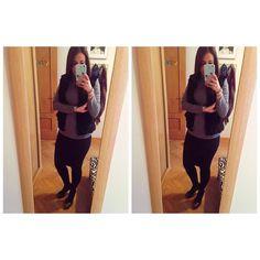 Buenos días mis chicas! Hoy os subo el look un poco más tarde porque he estado más liada! Estrenando falta lápiz de @primark que me compre el otro día y muy baratita! Qué tal lleváis la semana vosotras? Feliz día mis chicas  #falda #negra #faldalapiz #primark #jersey #gris #Primark #tacones #negros #gris #abril #martes #trabajo #foto #espejo #photo #iPhone #iphone6splus #instagram #instasize #instagramer #moda #blog #blogger #look #lookoftheday #ropa #outfit #outfitoftheday #funda…