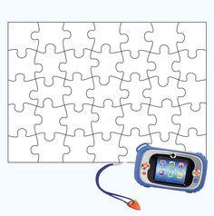 Maak je eigen fotopuzzel! Maak met de Kidizoom een mooie foto! Vraag aan je pappa of mamma of je ze het voor je willen printen met dit #puzzel patroon. Plak het op een karton. Knip het dan uit en #puzzelen!