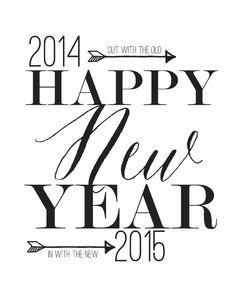 2015 New years Decor Free printable