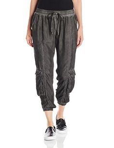 Pete  Greta Womens Ramble PullOn Cargo Pant Antique Charcoal XLarge -- To view further for this item, visit the image link.
