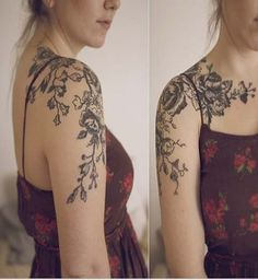 shoulder tattoos for women | ... Women Shoulder Tattoo, Modern Shoulder Tattoo, Women Shoulder Tattoo