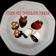 Crock-Pot Chocolate Fondue From crockpotladies.com