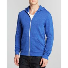 Alternative Rocky Zip Hoodie ($58) ❤ liked on Polyvore featuring men's fashion, men's clothing, men's hoodies, pacific blue, mens sweatshirts and hoodies, mens zip up hoodies, mens blue hoodies, mens zipper hoodies and mens hoodies