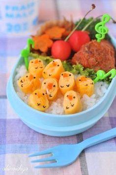 ヒヨコいっぱいのお弁当|レシピブログ