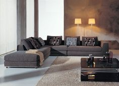 Dark Gray Microfiber Sectional - modern - sectional sofas - - by EuroLux Furniture