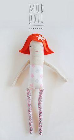 free Mer Mag Mod Doll Pattern. With Sarah Jane's Out to Sea fabric