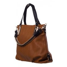 Sabella Slouch Tote in BLACK TAN  20800 - colette by colette hayman Tan Bag ec0db1b83ce20