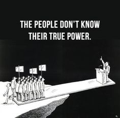 Power of the people. They want to divide us because they know we have the power to change everything. Remember that, patriots.