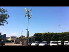 #WATCH: The world's first wind- powered EV charger in action.