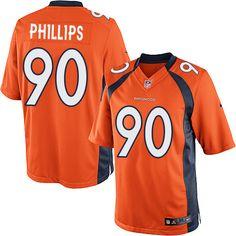 Men's Nike Denver Broncos #90 Shaun Phillips Limited Orange Team Color NFL Jersey   http://www.nflbroncosnikegear.com/