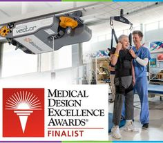 """The Vector Gait and Safety System is nominated as a Finalist in 2014 Medical Design Excellence Awards (MDEA)! We're honored to be included as one of the """"Most Innovative Medtech Products of 2014.""""  The awards ceremony will take place on June 11. Read more about the Vector here: http://www.bioness.com/Healthcare_Professionals.php"""