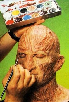 Makeup process for A Nightmare on Elm Street 4: The Dream Master (1988)