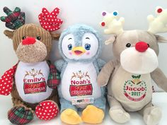 A reindeer / penguin teddy personalised by you  This is a custom reindeer / penguin teddy personalised by you. Its unique appearance includes a classic reindeer / penguin design with a signature Cubbies fun twist. Choose from 2 themed templates and customise with a name of your choice.  Embroide