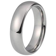 c639330144 XCWXM Ringe fü Ringe Classic Ring Silber Wolfram Ehering für Männer und  Frauen Band 6mm #