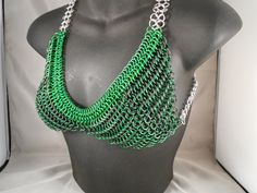 Stretchy Green Chainmail Bikini with Matching by CnTStretchys, $100.00