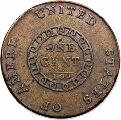 The first Chain cent struck in early March, the 1793 Chain AMERI. cents are extremely important historically, as the first coins struck for ...