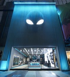 Alienware flagship store by Gramco, Chongqing – China Front Door Design, Entrance Design, Shop Front Design, Facade Design, Shoe Store Design, Retail Store Design, Retail Shop, Retail Facade, Shop Facade