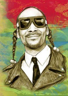 Hip Hop Art - Snoop  www.loyallisteners.net
