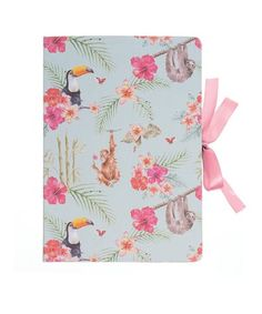 Wrendale Countryside Double Sided Gift Wrap Wrapping Paper-Pink Flamingo