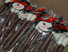 Chocolate Dipped Pretzel Magic Wands Party Favors