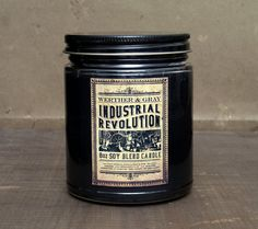 Candle INDUSTRIAL REVOLUTION 8oz Soy Blend by WertherAndGray