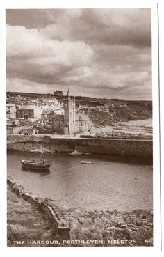 Early PORTHLEVEN Harbour Helston Cornwall Photo Postcard