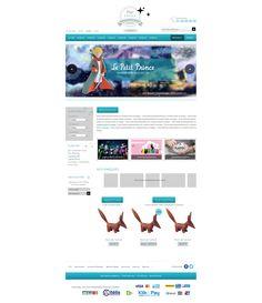 Maquette site pixiboutique.com - creation boutique en ligne pour figurines, jouets, jeux de societe ...