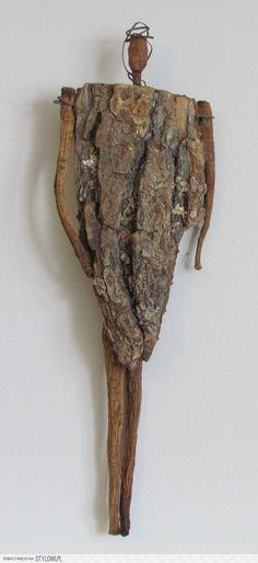 Deidré Wallace - Sculpture - Print the sulpture yourself - Liba: Wooden Woman. Driftwood Sculpture, Driftwood Art, Sculpture Art, Found Object Art, Found Art, Assemblage Art, Nature Crafts, Altered Art, Art Dolls