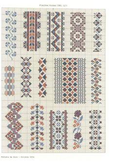 Counted Cross Stitch Design: B Blackwork Embroidery, Folk Embroidery, Cross Stitch Embroidery, Embroidery Patterns, Cross Stitch Borders, Cross Stitch Designs, Cross Stitching, Cross Stitch Patterns, Loom Patterns