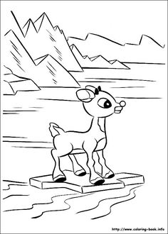 Rudolph Coloring Pages free printable coloring page Rudolph 028