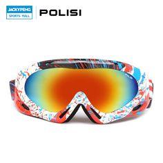 POLISI Children Kids Winter Skiing Eyewear Windproof Snowboard Goggles Snow Gafas Motocross Glasses Skateboard Gafas De Esquiar