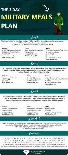 Military Diet Plan: 3 Days Diet Plan Menu to Lose 10 pounds in a Week – Detox Rezepte Quick Weight Loss Tips, Diet Plans To Lose Weight, Healthy Weight Loss, How To Lose Weight Fast, Loose Weight, Reduce Weight, Losing Weight, 3 Day Diet Plan, Diet Plan Menu