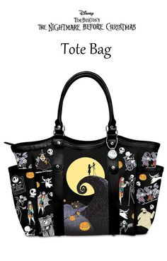 Disney Tim Burton's The Nightmare Before Christmas Polyester Twill Tote Bag by The Bradford Exchange  https://www.amazon.com/gp/product/B01L2R15JE/ref=as_li_tl?ie=UTF8&camp=1789&creative=9325&creativeASIN=B01L2R15JE&linkCode=as2&tag=pintote34-20&linkId=d81f236afc8fc24afe570b3fe845c92d