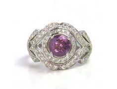 2.05 ct Spinel & 1.09 ctw Diamond 14K White Gold Ring